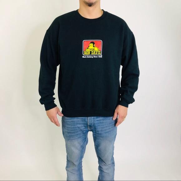 Ben Davis Crewneck Sweatshirt with logo Black